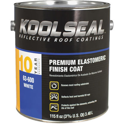 Picture of Kool Seal 1 Gal. Premium 10-Year White Acrylic Elastomeric Roof Coating