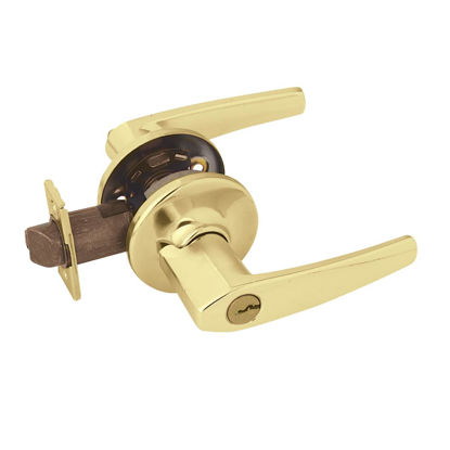 Picture of Kwikset Polished Brass Delta Entry Door Lever