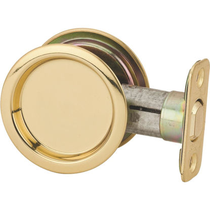 Picture of National Passage Polished Brass Pocket Door Pull
