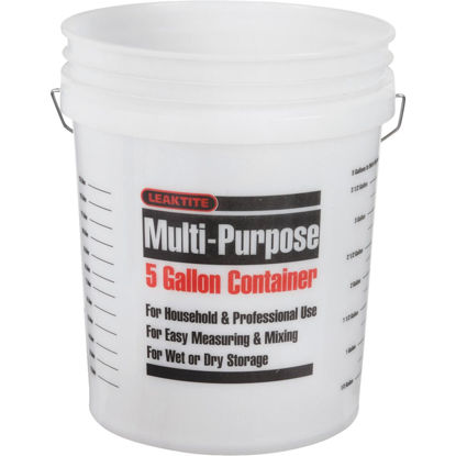 Picture of Leaktite 5 Gal. Plastic Pail, Clear