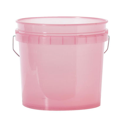 Picture of Leaktite 3.5 Gal. Red Translucent Pail