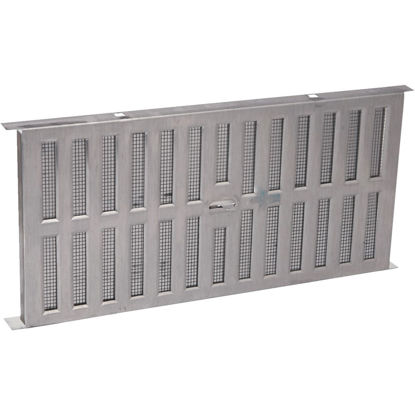 Picture of Air Vent 8 In. x 16 In. Aluminum Manual Foundation Vent with Adjustable Sliding Damper