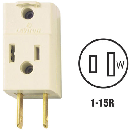 Picture of Leviton Ivory 15A 3-Outlet Cube Tap