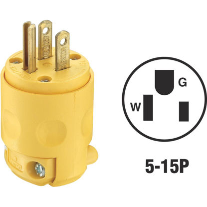 Picture of Do it 15A 125V 3-Wire 2-Pole Residential Grade Cord Plug