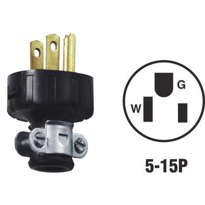 Picture of Do it 15A 125V 3-Wire 2-Pole Heavy-Duty Round Cord Plug