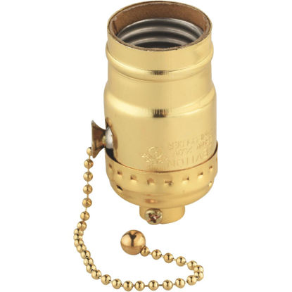 Picture of Do it Pull Chain Medium Base Polished Gilt Lamp Socket