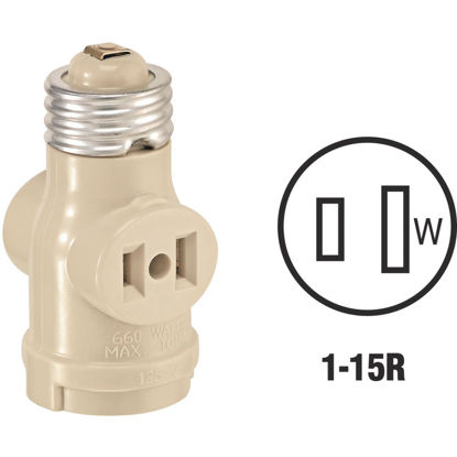 Picture of Leviton Ivory 125V Socket Adapter