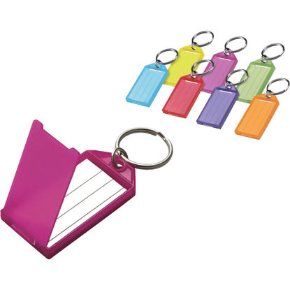 Picture of Lucky Line Assorted Transparent Colors 2-1/4 In. I.D. Key Tag with Ring, (100-Pack)