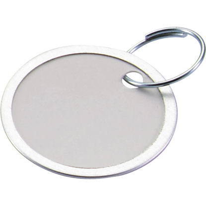 Picture of Lucky Line 1-1/4 In. Metal-Rimmed Paper Key Tag with Ring, (25-Pack)