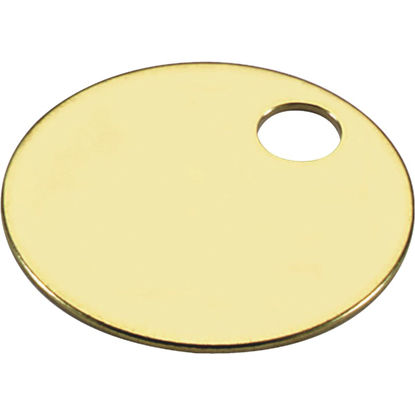 Picture of Lucky Line Engravable Tag 1-1/4 In. Brass Key Tag, (100-Pack)