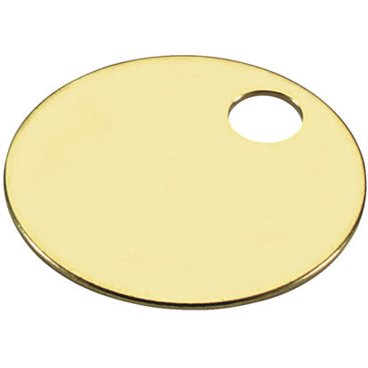 Picture of Lucky Line Engravable Tag 1-3/8 In. Brass Key Tag, (100-Pack)
