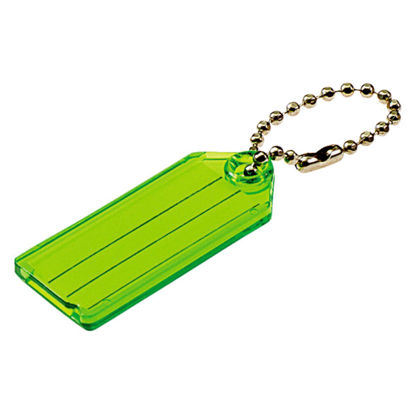 Picture of Lucky Line Transparent 2-1/4 In. I.D. Key Tag with Chain (2-Pack)