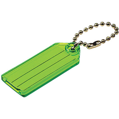 Picture of Lucky Line Transparent 2-1/4 In. I.D. Key Tag with Chain (100-Pack)