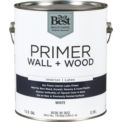 Picture of Do it Best Interior Latex Wall and Wood Primer, White, 1 Gal.