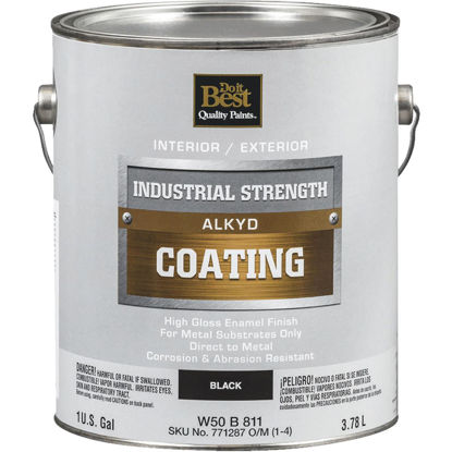 Picture of Do it Best Alkyd Industrial Coating, Black, 1 Gal.