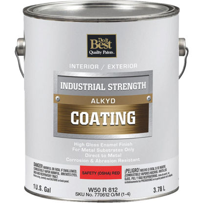 Picture of Do it Best Alkyd Industrial Coating, Osha Red, 1 Gal.