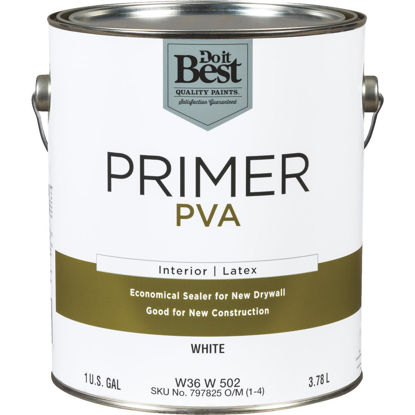Picture of Do it Best PVA Interior Latex Drywall Primer, White, 1 Gal.