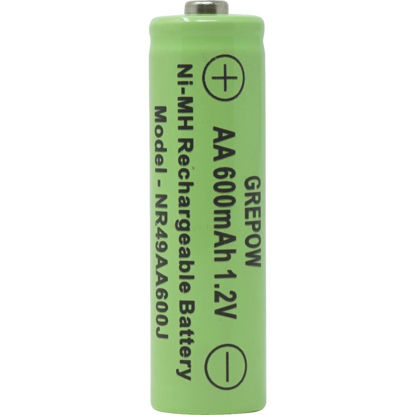 Picture of Moonrays Solar Rechargable AA Replacement Battery (4-Pack)