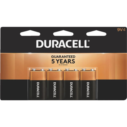 Picture of Duracell CopperTop 9V Alkaline Battery (4-Pack)