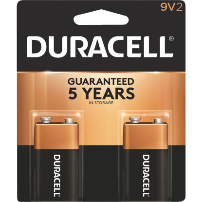 Picture of Duracell CopperTop 9V Alkaline Battery (2-Pack)