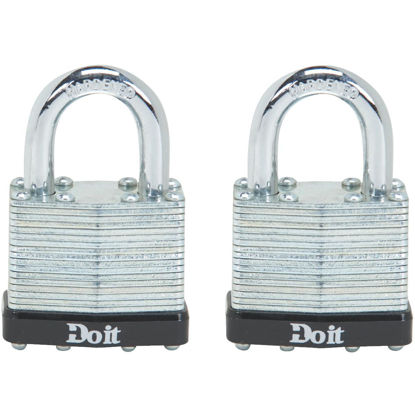 Picture of Do it 1-1/2 In. W. Laminated Steel Padlock (2 Pack)
