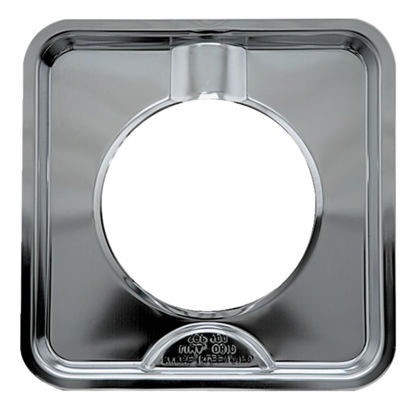 "Picture of Range Kleen Gas 4-3/8"" Style H Square Chrome Drip Pan"
