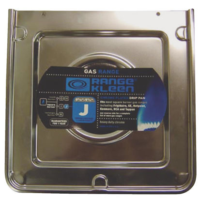 "Picture of Range Kleen Gas 3-5/8"" Style J Square Chrome Drip Pan"