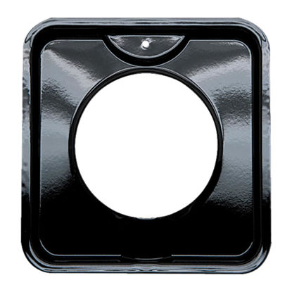 "Picture of Range Kleen Gas 4-3/8"" Style I Square Black Drip Pan"