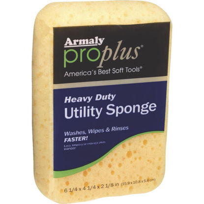 Picture of Armaly ProPlus 6.25 In. x 4.25 In. Yellow Heavy Duty Sponge