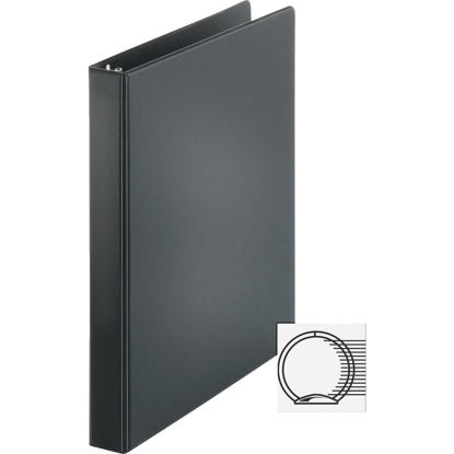 Picture of Business Source 1 In. Black 3-Ring Binder