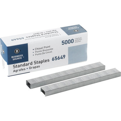 Picture of Business Source Standard Chisel Point Staple (5000-Pack)