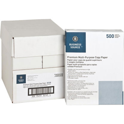 Picture of Business Source 8-1/2 In. x 11 In. 20 Lb. White Copier Paper, 2500 Sheets