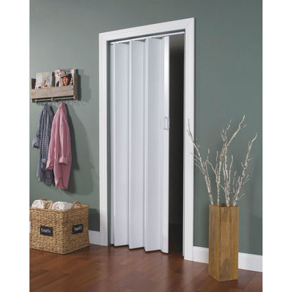 Picture of Spectrum Encore 24 In. to 36 In. W. x 80 In. H. White Accordion Folding Door