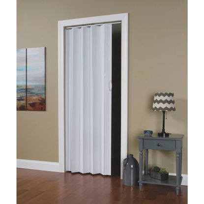 Picture of Spectrum Via 24 In. to 36 In. W. x 80 In. H. White Accordion Folding Door