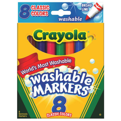 Picture of Crayola Assorted Color Broad Line Washable Markers (8-Pack)