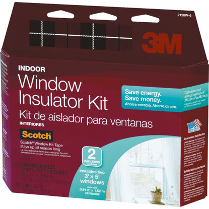 Picture of 3M Indoor 62 In. x 84 In. Window Insulation Kit, (2-Pack)