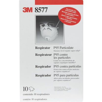 Picture of 3M P95 Particulate Respirator with Nuisance Level Organic Vapor Relief (10-Pack)