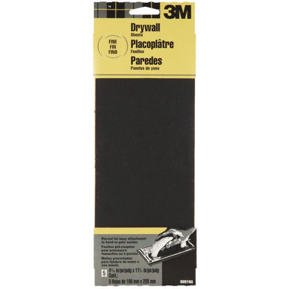 Picture of 3M Fine Grade 4-3/16 In. x 11-1/4 In. Precut Drywall Sandpaper (2-Pack)