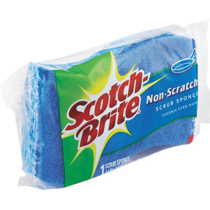 Picture of 3M Scotch-Brite 4.4 In. x 2.6 In. Blue Scratch Free Scrub Sponge