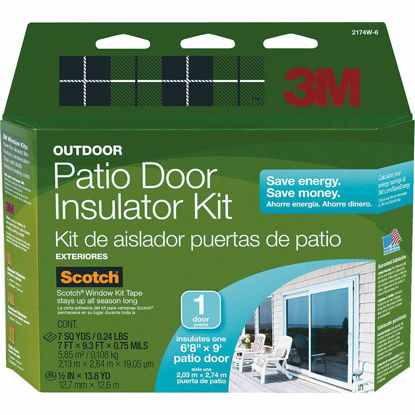 Picture of 3M Outdoor Patio Door 84 In. x 112 In. Window Insulation Kit