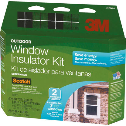 Picture of 3M 62 In. x 84 In. Outdoor Window Insulation Kit, (2-Pack)