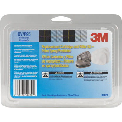Picture of 3M OV/P95 Paint Replacement Filter Cartridge with Pre-Filter Pack (2-Pack)