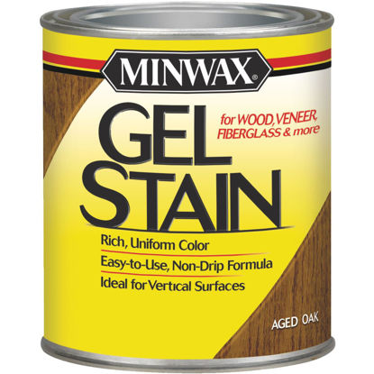 Picture of Minwax Gel Stain, Aged Oak, 1/2 Pt.