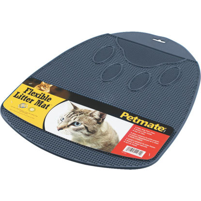 Picture of Petmate 13-1/2 In. x 14 In. x 1 In. Flexible Rubber Litter Mat