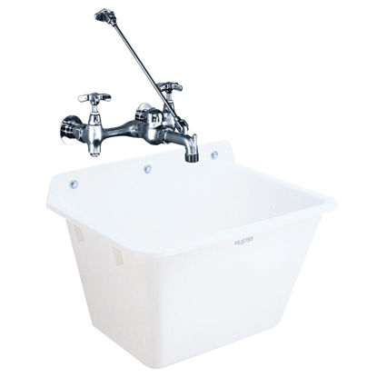 Picture of Mustee 12 Gallon 17 In. x 22 In. Wall Mount Utility Tub ( Faucet Not Included)
