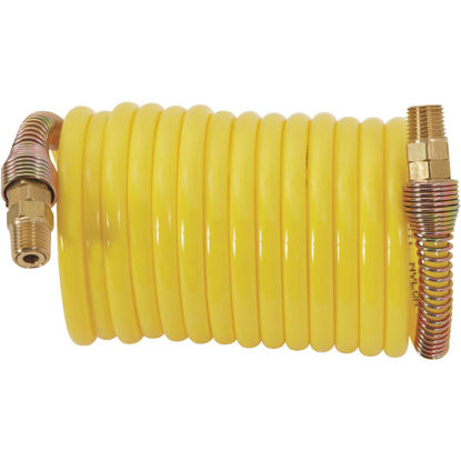 Picture of Milton ReKoil 1/4 In. x 12 Ft. Nylon Air Hose with 1/4 In. MNPT Swivel Fittings