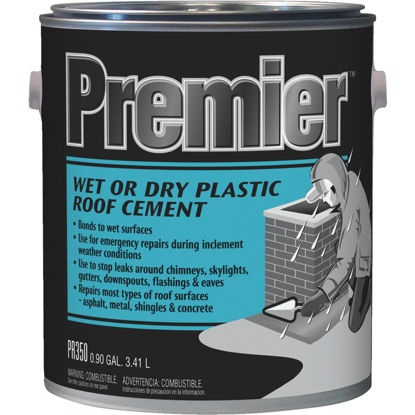 Picture of Premier 350 1 Gal. Wet or Dry Plastic Roof Cement