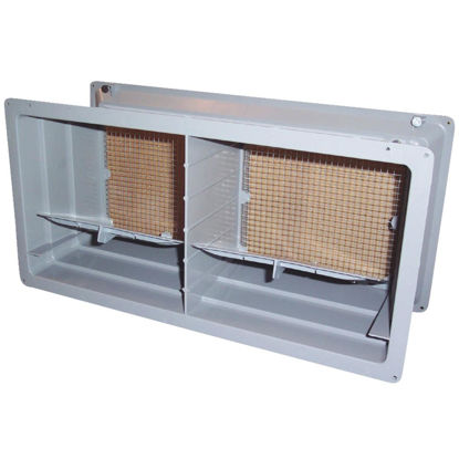 Picture of NorWesco DLX 8 In. x 16 In. Plastic Manual Foundation Vent with Damper
