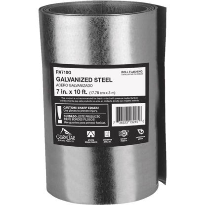 Picture of NorWesco 7 In. x 10 Ft. Mill Galvanized Roll Valley Flashing