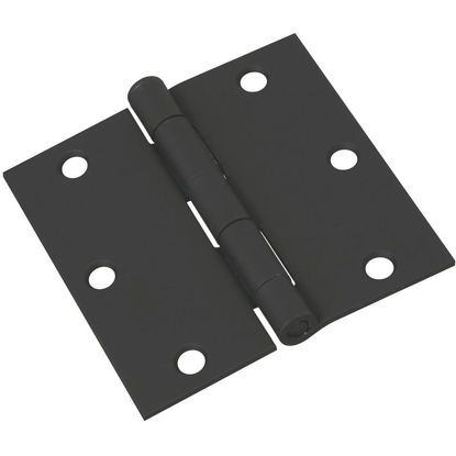 Picture of National 3-1/2 In. Square Black Door Hinge